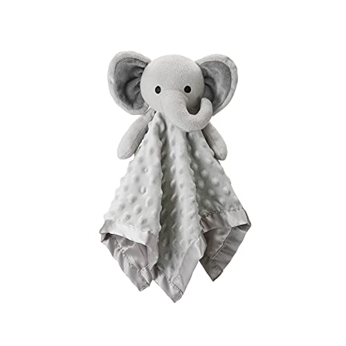 Pro Goleem Elephant Loveys for Babies Soft Security Blanket Baby Snuggle Toy Stuffed Animal Blanket Baby Boy Gift for Infant and Toddler Gray 16 Inch