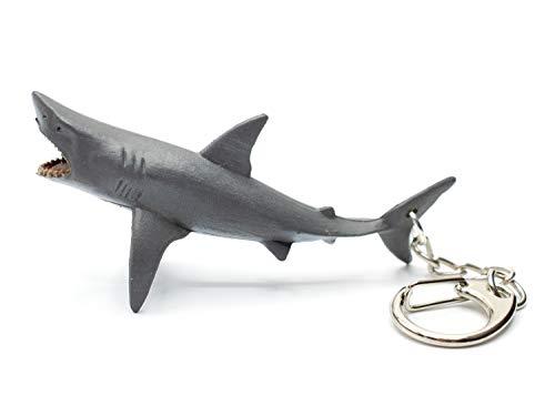 Miniblings Hai Schlüsselanhänger Weißer Hai Haifisch - Handmade Modeschmuck I I Anhänger Schlüsselring Schlüsselband Keyring