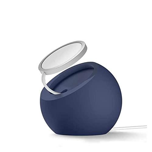 WUBZSHI Titular de teléfono Celular For el Soporte del Cargador Soporte for 12 Pro Phone Mount MAX Support USB Desktop Charger Magnetic Fast Silicon Charg (Color : Blue)