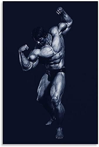 ZRRTTG Lienzo Y Arte De Pared PóSter Arnold Schwarzenegger Gym para decoración de Habitaciones Pintura Pared Y Estampados Cuadros 11.8'x19.7'(30x50cm) Sin Marco