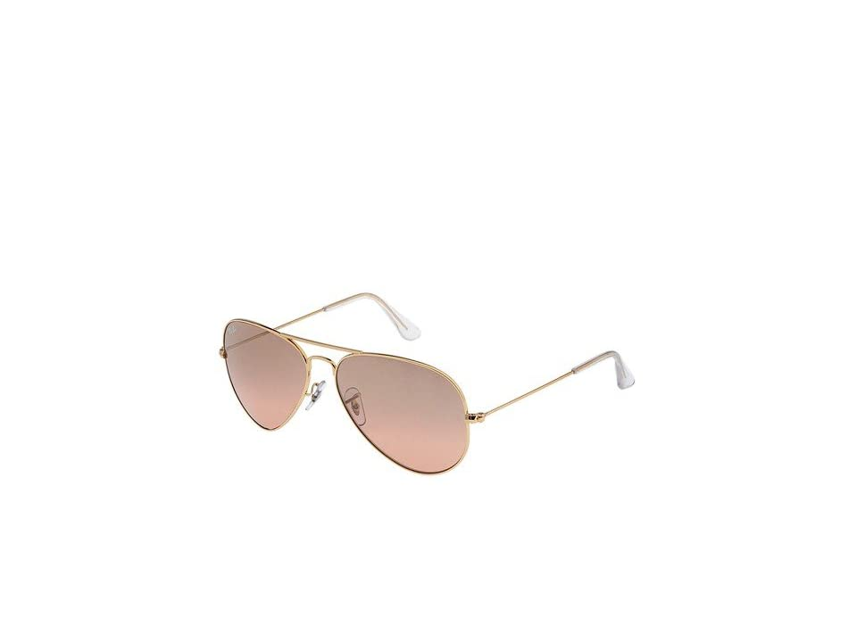 Ray-Ban RB3025 Original Aviator 58mm (Arista/Pink Silver Gradient Mirror Lens) Metal Frame Fashion Sunglasses