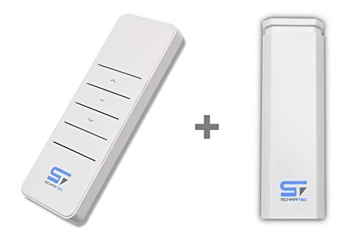 SCHARTEC Rolladen Funkempfänger Set Universal Funksteuerung mit Fernbedienung Funkfernbedienung Rollladen