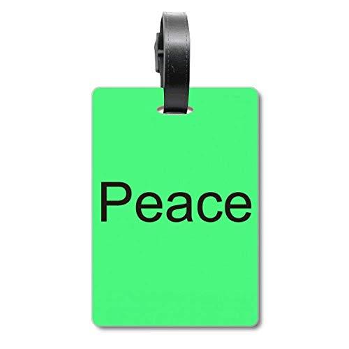 Etiqueta de identificación para Maleta con Frase inspiradora de la Palabra de la Paz