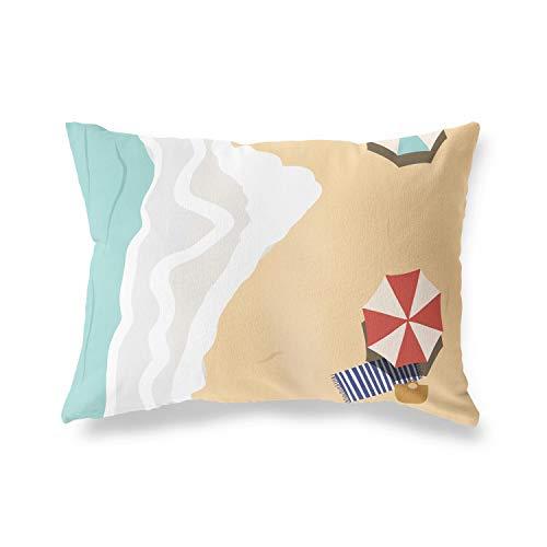BonaMaison - Federa decorativa per cuscino, morbida, confortevole, per casa, auto, ufficio, divano, soggiorno, camera da letto, 45 x 60 cm, progettata e prodotta in Turchia.