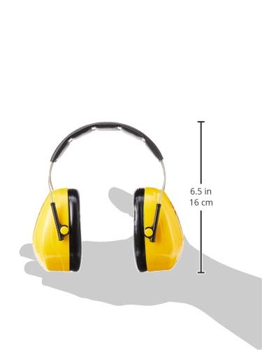 3M PELTOR Optime 98 Earmuffs H9A, Over-the-Head, Yellow