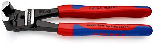 KNIPEX 61 02 200 Bolzen-Vornschneider hochübersetzt schwarz atramentiert mit schlanken Mehrkomponenten-Hüllen 200 mm
