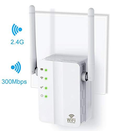 Jiasi Amplificador Señal WiFi-Repetidor WiFi 300Mbps Amplificador WiFi 2.4Ghz, Extensor De WiFi, con Ethernet WAN/LAN, WPS, Soporte De Antenas Four Ap/Repetidor/Enrutador /, Enchufe Y Ejecute