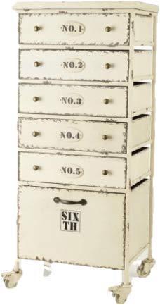 NAUTICALMANIA ladenorganizer met wieltjes in maritieme stijl 98 x 44 x 35 cm