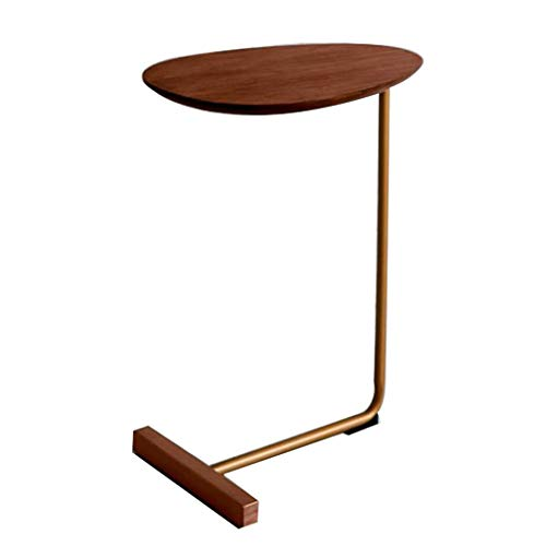 Tables Basses Table Basse Table en Métal Créatif Canapé en Forme De Vert Table Basse Simple Table Basse Table Carrée (Color : Brown, Size : 60 * 45 * 30cm)
