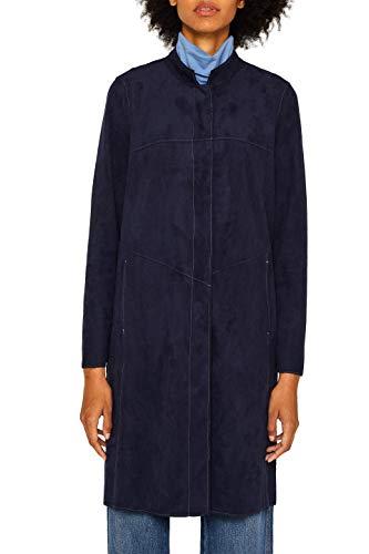 ESPRIT Damen 089Ee1G024 Mantel, Blau (Navy 400), Medium (Herstellergröße: M)