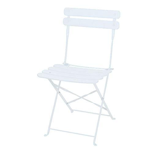 Chaise Pliante colorée Portable avec Dossier | Petit déjeuner Cuisine Tabouret de Bar Mobilier Chaise Haute Art de Fer - Hauteur d'assise: 46cm