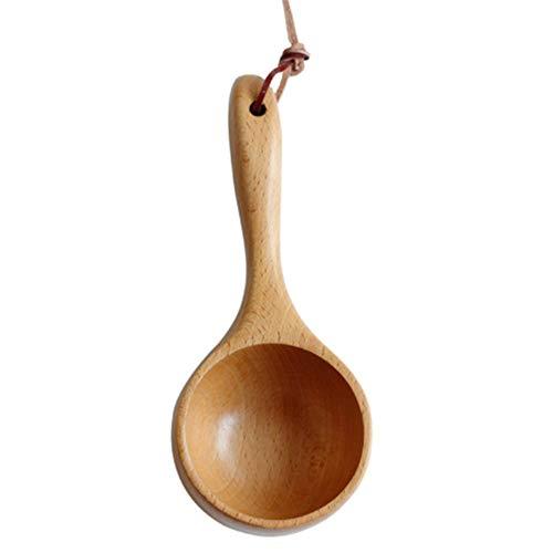 DANDELG Draagbare houten lepel rijstlepel sauna waterlepel waterlepel badwaterlepel keukengereedschap gereedschap maatlepel