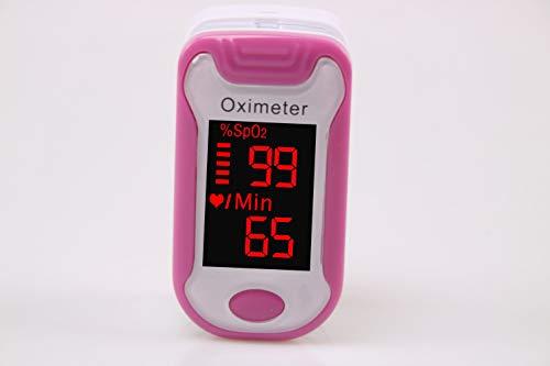 Cluster star FingerTIP Pulsoximeter mit LED-Anzeige, tragbare Sauerstoffmessgerät Herzfrequenz, Pulsfrequenz für Familie Gesundheitswesen (Pink),Rosa