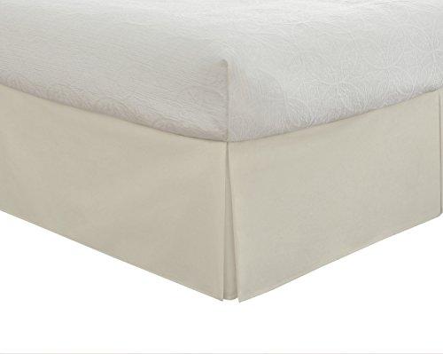 Lux Hotel Bettwäsche, maßgeschneiderter Bettrock, klassisch, 35,6 cm Länge, plissierter Stil King elfenbeinfarben