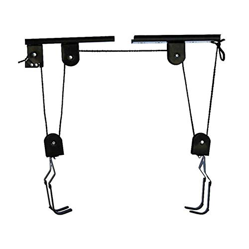 YIYIYI Kayak Bike Bicycle Lift Ceiling Mounted Hoist Storage Garage Hanger Pulley Rack Portable 25kg Capacity New