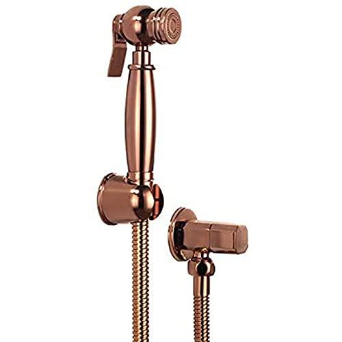 CXSMKP Bidet Faucet Set Rose Gold Brass Square Bidet Baño Ducha Ducha Bidé Rociador de Inodoro Higiénico Ducha Bidé Tap Montado Montado