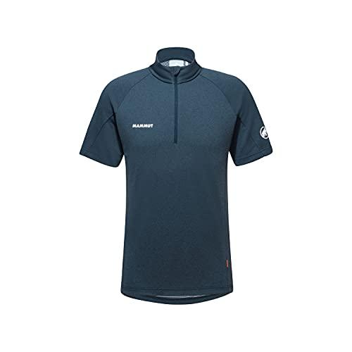 Mammut Herren Aegility Half Zip T-Shirt, Marine Melange-White, XL
