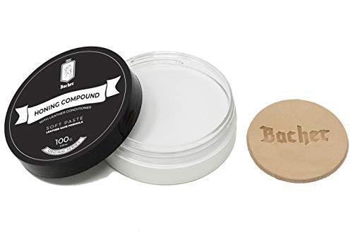 BACHER Abziehpaste mit Leder Applikator 100g - Fein