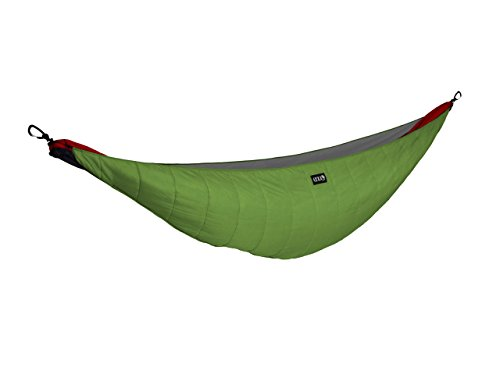 ENO - Eagles Nest Outfitters Ember Hammock UnderQuilt, Lightweight Sleeping Quilt for Cold Weather Camping, Lime/Charcoal