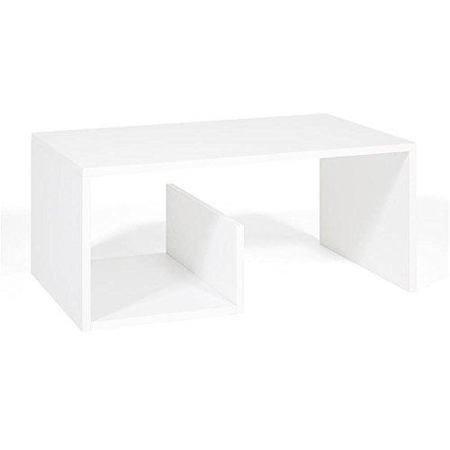 Mobili Fiver, Snake Tavolino da Salotto, Legno, Frassino Bianco, 80.0x50.0x35.0 cm