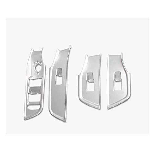 Pegatinas de la cubierta del panel del reposabrazos de la puerta del automóvil, para Audi Q2 Q2L Botones de elevación de la ventana Accesorios del interior del automóvil Marco