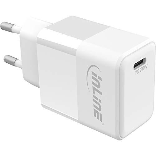 InLine USB PD Netzteil Ladegerät Single USB Typ-C, Power Delivery, 20W, weiß, 31500C