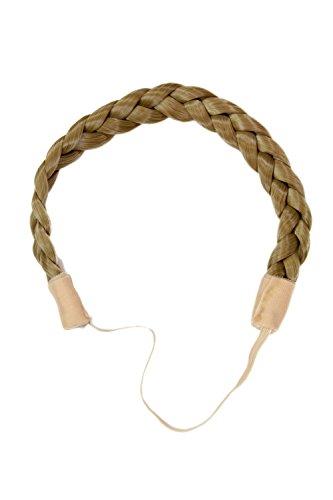 WIG ME UP - YZF-3080-24 Haarteil: geflochtener Haarreif Haarband braid braided hairband hair circlet Hell-Asch-Blond