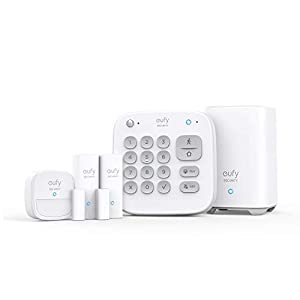 eufy Security 5-Piece Home Alarm Kit, Home Security System, Keypad, Motion Sensor, 2 Entry Sensors, Home Alarm System, Control From the App, Links with eufyCam