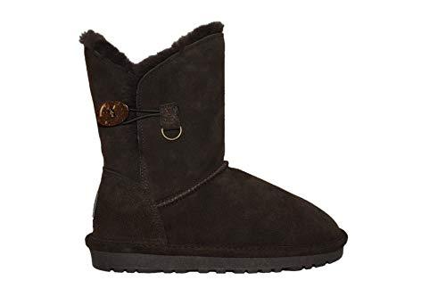 Reissner Lammfelle Lammfell Winterstiefel Lara Halbstiefel Schlupfstiefel Boots (Halbschaft) braun, Größe 40