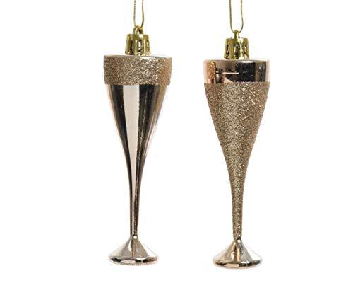 Matte Finish Glitter 12 x 30mm Champagne Or Mini babioles