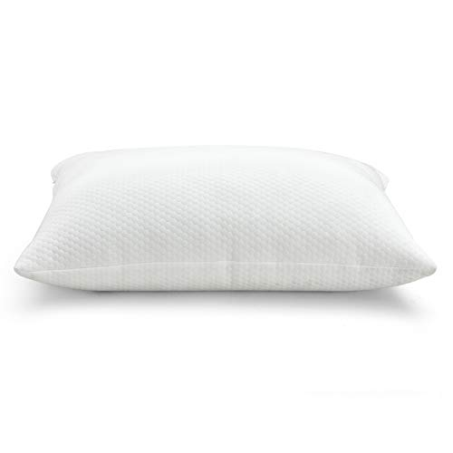 OYT Queen Pillows Shredded Memory Foam Bed Pillows for Sleeping Adjustable Loft Bed Pillows with Washable Hypoallergenic Cover for Back and Side SleeperQueen Size1Pack