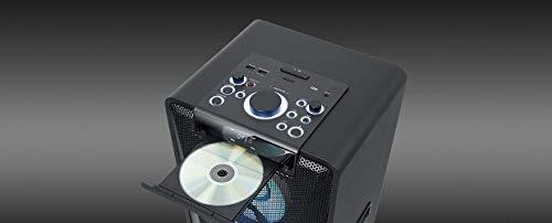 Muse M-1950 DJ PA-Anlage 500 Watt, mit CD, Bluetooth und Licht-Effekten (USB, AUX, Mikrofon, Fernbedienung), schwarz - 5