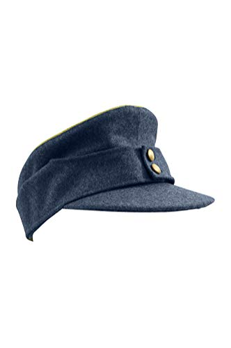 WW2 German Luftwaffe General M43 Feldmütze blau grau Gr. Large, blau / grau