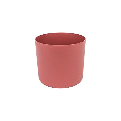 Classique cache-pot en plastique Aruba 13 cm en pastel bordeaux couleur