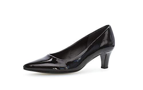 Gabor 21-350 Schuhe Damen Lack Pumps Weite F, Größe:38 EU, Farbe:Schwarz
