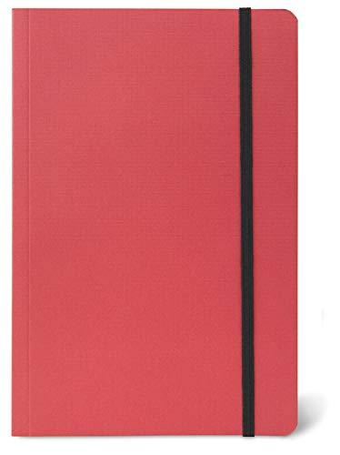 Honsell Cuaderno de bocetos Rojo con Cierre de Goma, DIN A4, Hojas, 80 g/m², Papel de Dibujo Blanco Natural, sin ácidos, para Todas Las técnicas de Secado como lápiz, carbón, Pastel
