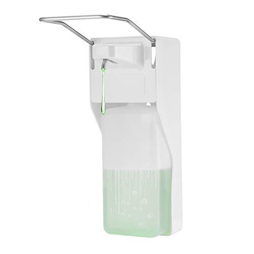Frontoppy Eurospender 1000ml ABS-Kunststoff Hygienischer Ansichtsfenster mit Fach– Elbow Press Seifenpumpen für Home Hotel Krankenhaus