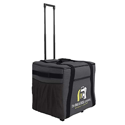 Printer Soft Bag Case with Pull Out Handle on Wheels Fits Amp Heads and Most Dye Sub-Printers, Mitsubishi CP-K60DW-S, CP-D90DW, CP-9550DW, CP-D70DW, Sinfonia CS2, DNP DS620A, DS40, DS-RX1HS, DS820A