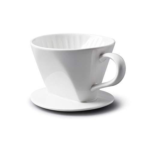 WM Bartleet & Sons 1750 T262 Traditioneller Kaffeefilter aus Porzellan, Weiß