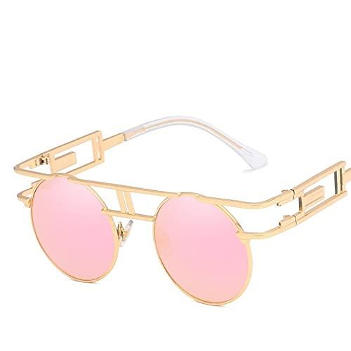 LUOXUEFEI Gafas De Sol Gafas De Sol Redondas Hombres Mujeres Unisex Espejo Gafas De Sol Gafas Sombras