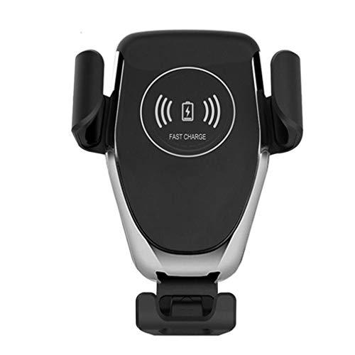 Cargador inalámbrico para automóvil Gravity Cargador de inducción para teléfono con Soporte para automóvil de Carga rápida Negro