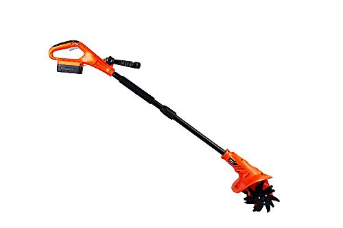 eSkde LITI1 Cordless Tiller Cultivator, 18 V, Black and Orange