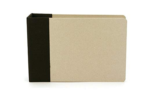 American Crafts 6-Inch by 6-Inch D-Ring Modern Scrapbooking Album, Black