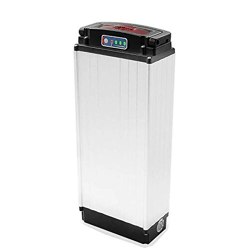 Rear Rack Ebike Battery 48V 20Ah 1000W Cell Holder Back Carrier Li-ion Battery for 1000W Rear Rack E-Bike Electric Bicycle, No Rack(Battery with Lantern+Charger)