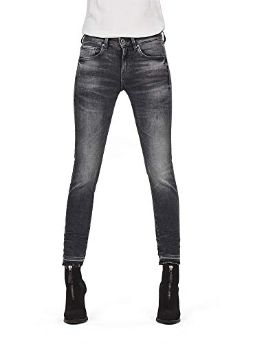 G-STAR RAW Damen 3301 Mid Skinny Ripped Edge Ankle Jeans