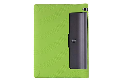 Funda de Silicona Suave para Lenovo Yoga Tab 3 10.1 X50L X50F X50M YT3-X50L Cubierta de Silicona Anti Suave Cubierta Protectora de Rotura-Verde