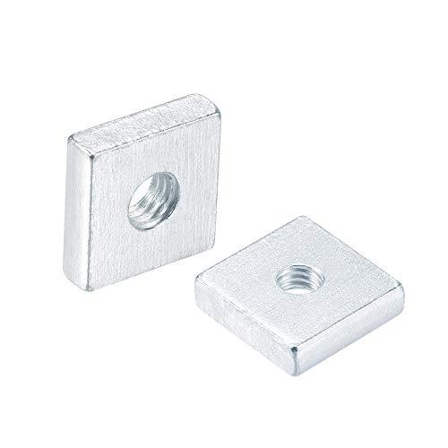 uxcell Square Nuts, M5x15mmx4mm Zinc-Plated Metric Coarse Thread Assortment Kit, 10 Pcs
