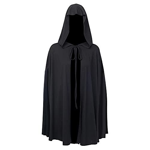 sujinxiu Capa del sacerdote para mujer Capa con capucha Vampiro Bruja Cosplay Disfraces de Halloween Estilo oscuro Capa unisex para adultos