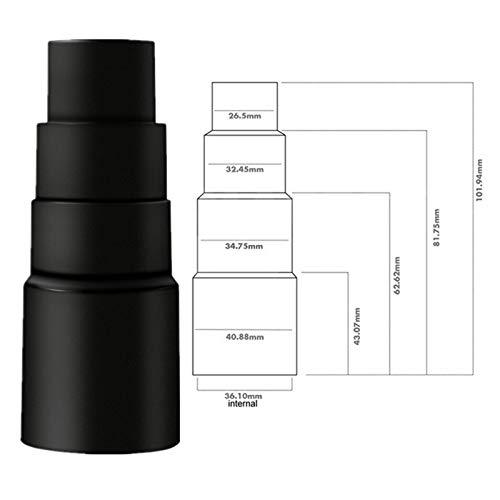 WUYANZI 2,5 cm Caballo de Longitud de Caballo Cepillo de Polvo Redondo con Adaptador de conversión de aspiradora Reemplazar 32 mm ~ 35 mm Adaptadores Limpie los cepillos (Color : Red)