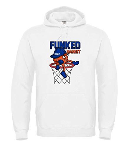 Druckerlebnis24 Hoodie - Funket Basket Basketball Korb - Kapuzenpullover für Frauen und Damen